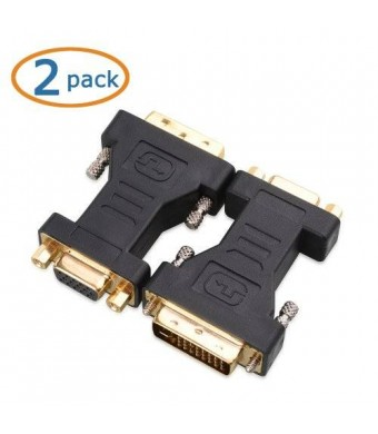 Cable Matters 2 Pack DVI-I to VGA Male to Female Adapter