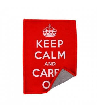 Microfiber Cleaning Cloth for iPad and Touchscreens Keep Calm and Carry On Smartie by Lynktec