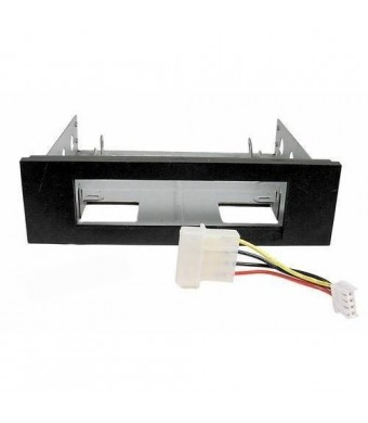 """Circo 3.5"""" to 5.25"""" Drive Bay Computer Case Adapter Mounting Bracket, Metal Body, Plastic Bezel for USB Hub/Floppy/Card Reader"""