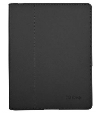 Speck Products FitFolio Protective Cover for iPad 2/3/4 - Black Vegan Leather (SPK-A1710)