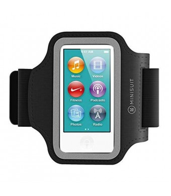 MiniSuit SPORTY Neoprene Armband + Key Holder for iPod Nano 7 (Black)