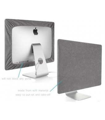 Kuzy - GRAY Screen Cover for iMac 27-inch Dust Cover Display Protector (Models: A1312 and A1419) - Grey 27""