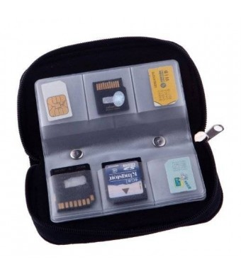 yinglite 22 Slots Case Pouch Holder for Memory Card Sd Card.memory Card Carrying Case Memory Card Holder (1 Pack)