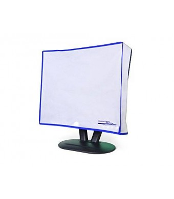 "Computer Dust Solutions, LLC Dust and water resistant silky smooth antistatic vinyl LCD Monitor Dust Cover for 23-24"" LCD (23W x16H x3D)"