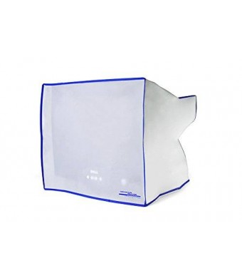 """Computer Dust Solutions, LLC Dust and water resistant silky smooth antistatic vinyl CRT Monitor Dust Cover for 15"""" CRT monitor (17W x15/11H x13D)"""