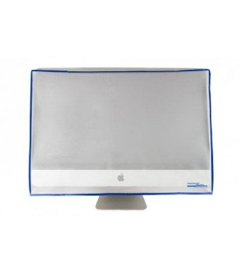 """Computer Dust Solutions, LLC Dust and water resistant silky smooth antistatic vinyl iMac Monitor Dust Cover for 24"""" iMac 24W x16H x3(Top)/8(Bottom)"""