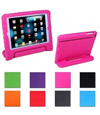 HDE Kids Light Weight Shock Proof Handle Case for iPad Mini / Mini 2 / Mini 3 (Hot Pink)