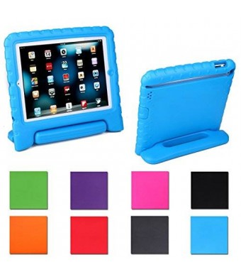 HDE Kids Light Weight Shock Proof Handle Case for iPad Mini / Mini 2 / Mini 3 (Blue)