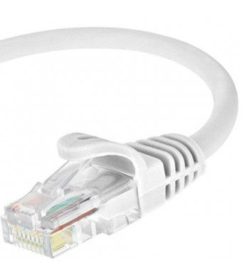 Mediabridge Cat5e Ethernet Patch Cable (15 Feet) - RJ45 Computer Networking Cord - White - (Part# 31-299-15B )
