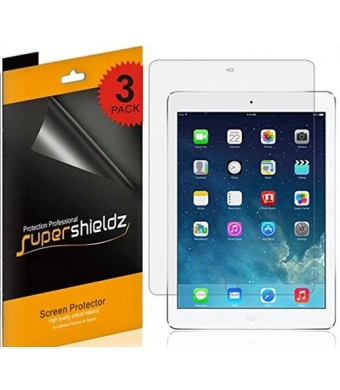[3-Pack] SUPERSHIELDZ- High Definition Clear Screen Protector For Apple iPad Air 2 and iPad Air + Lifetime Replacements Warranty- Retail Packaging
