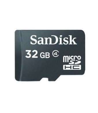 Sandisk 32GB 32G Micro SDHC Class 4 TF Memory Card with Micro SD Card Reader - Bulk Packed