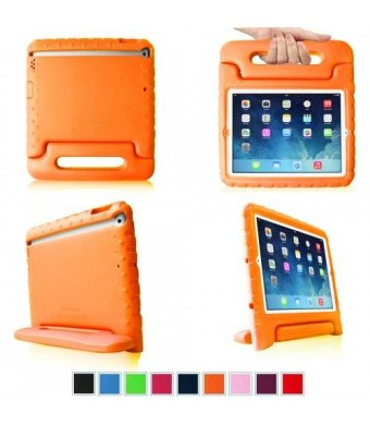 HDE Kids Light Weight Shock Proof Handle Case for iPad Mini / Mini 2 / Mini 3 (Orange)