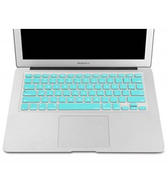 """Mosiso - Keyboard Cover Silicone Skin for MacBook Air 13"""" and MacBook Pro 13"""" 15"""" 17"""" (with or w/out Retina Display) iMac -Hot Blue"""