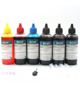 BCH Technologies BCH Standard 600 ml Refill Ink Kit for HP and Canon Printers
