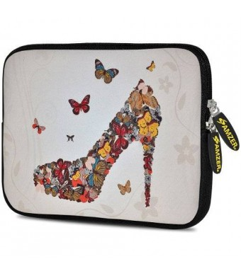Amzer 7.75-Inch Designer Neoprene Sleeve Case Cover Pouch for Tablet, eBook and Netbook - Butterfly High Heels (AMZ5161077)