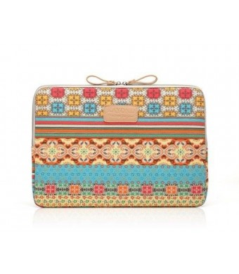 Kayond Bohemian Style Canvas Fabric 11-11.6 Inch Netbook / Laptop / Notebook Computer / MacBook Air Sleeve Case Bag Cover (11-11.6 Inches, Bohemian)