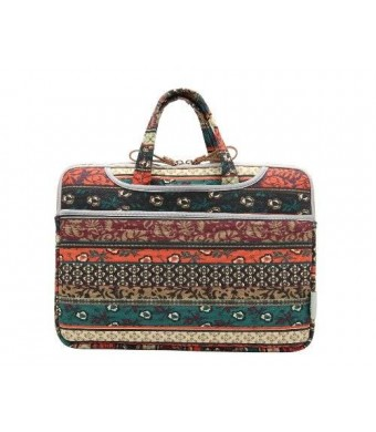 Kayond Bohemian Style Canvas Fabric Ultraportable Neoprene 15-15.6 Inch for Laptop