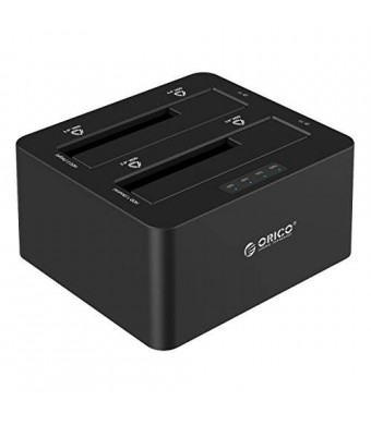 ORICO Dual Bay SATA to USB3.0 External Hard Drive Docking Station for 2.5 and 3.5 inch HDD