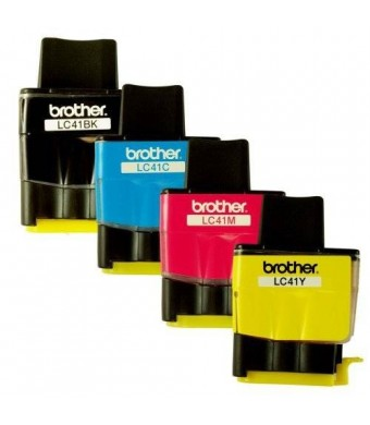 E Depot Express Genuine OEM Brother LC41 Ink Cartridges (Black, Cyan,Magenta,Yellow , 4-Pack )