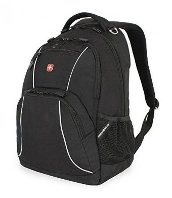 Swiss Gear SwissGear Laptop Computer Backpack SA6683 (Black with Grey Accents) Fits Most 15 Inch Laptops
