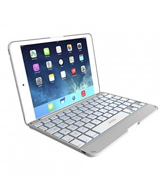 ZAGG Cover for iPad mini and iPad mini Retina , Hinged with Blacklit Keyboard - White