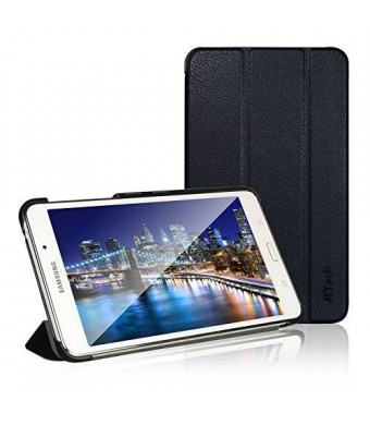 Tab 4 Case, Samsung Tab 4 7.0 Case, JETech Gold Slim-Fit Smart Case Cover for Samsung Galaxy Tab 4 7 (7.0 inch) Tablet (Black)