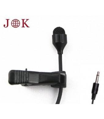 JK MIC-J 044 Lavalier Lapel Clip On Omni-directional Condenser Microphone For Computer Voip Skype Laptop Voice Amplifier (Mono 3.5mm Plug)