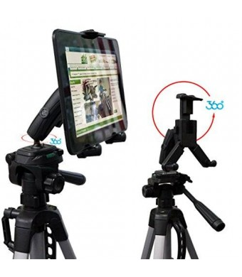 ChargerCity HDX-2 Tablet Selfie Video Camera Recording Photo Booth Tripod Adapter Mount w