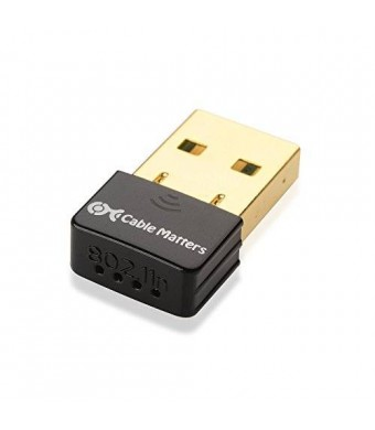 Cable Matters Gold Plated Wireless N 150Mbps Nano USB Adapter