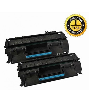 GlobalToner Compatible Toner Cartridge Replacement for HP CF280A ( 2-Pack )