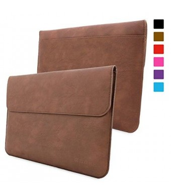 Surface Pro 3 / 4 Case, Snugg™ - Leather Sleeve Case with Lifetime Guarantee (Brown) for Microsoft Surface Pro 3 / 4
