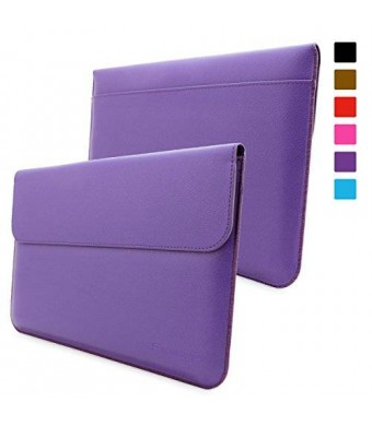 Surface Pro 3 / 4 Case, Snugg™ - Leather Sleeve Case with Lifetime Guarantee (Purple) for Microsoft Surface Pro 3 / 4
