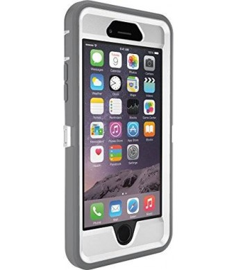 OtterBox iPhone 6 ONLY Case - Defender Series, Frustration-Free Packaging - Ap Pink (White/Gunmetal Grey Ap Pink) (4.7 inch)