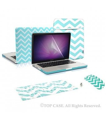 TOP CASE TopCase 5 in 1 Bundle - Chevron Series Hot Blue