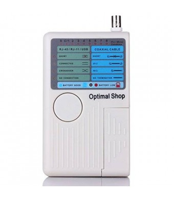 Optimal Shop 4 In 1 Network Cable Tester RJ45/RJ11/USB/BNC LAN Cable Cat5 Cat6 Wire Tester
