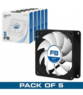 ARCTIC F8 - Value Pack (5pc) - 80 mm Standard Low Noise Case Fan