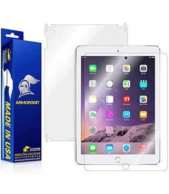 ArmorSuit MilitaryShield - Apple iPad Air 2 Wifi Screen Protector + Full Body Skin Protector / Front + Back Anti-Bubble Ultra HD - Extreme Clarity and Touch Responsive Shield with Lifetime Free Replacements