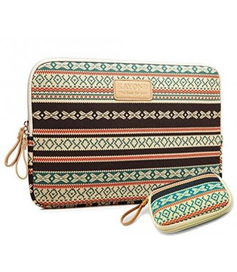 kayondnew Bohemian Style Canvas Fabric 17-17.3 Inch laptop Sleeve Case Bag Cover for Notebook Computer / Apple MacBook / MacBook Pro (17 inch)