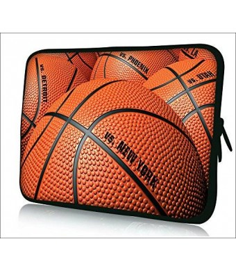 """Colorfulbags Universal Basketball 9.7"""" 10"""" 10.1"""" 10.2"""" inch soft Neoprene Laptop Netbook Tablet Case Sleeve Bag Cover Pouch For Apple iPad 2"""