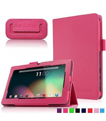 "Infiland Folio PU Leather Slim Stand Case Cover for 7'' Android Tablet including Alldaymall 7"" Tablet"