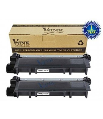 V4INK  2PK New Compatible Brother TN660 TN630 Toner Cartridge For for DCP-L2520DW