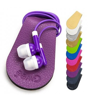 New Workout Headphones Cord Wrap with Ultra-Fresh™ Gwee Sport Guppy Color Purple