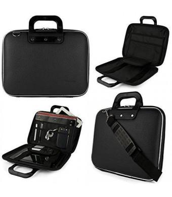 "Jet Black SumacLife Cady Messenger Bag for Dell XPS, Inspiron, Latitude, Alienware 13.3 to 14"" Laptops"