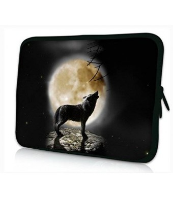 "iColor Universal Cool Wolf and Moon 11.6"" 12"" 12.1"" Laptop Tablet PC Sleeve Case Bag Pouch Cover Protector For 11.6"