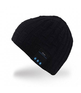 MyDeal Products Mydeal Washable Bluetooth Music Hat Winter Warm Soft Knitted Trendy Short Skully Beanie Cap W