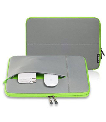 """Runetz - 13-inch GRAY Neoprene Sleeve Case Cover for MacBook Pro 13.3"""" with or w/out Retina Display and MacBook Air 13"""" Laptop - Grey-Green"""