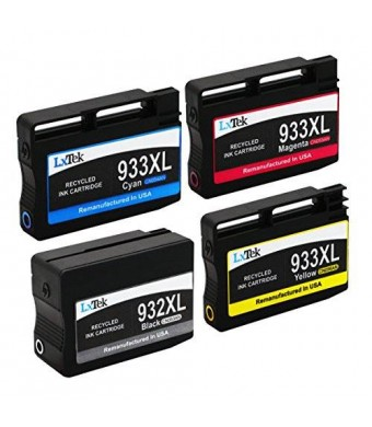 LxTek Remanufactured Ink Cartridge Replacement For HP 932XL and HP 933XL