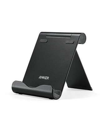Anker Aluminum Multi-Angle Universal Phone and Tablet Stand for iPhone, iPad, Samsung Galaxy, Kindle, HTC, Nexus and More (Black)
