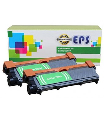 2 Pack - EPS Replacement Brother TN660 TN630 Toner Cartridge