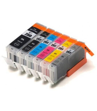 Blake Printing Supply  6 Pack Compatible Ink Cartridges for PIXMA MG7120